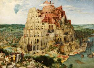 Pieter Brügel: Turmbau zu Babel, SPrachendurcheinander