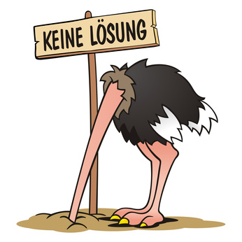 Vogel Strauss Politik